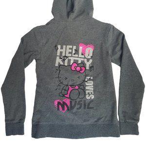 HELLO KITTY Girl's Zip Hoodie SANRIO M